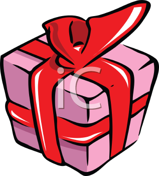 Royalty Free Clipart Image of a Wrapped Present