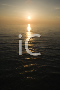 Royalty Free Photo of a Sunset Over the Atlantic Ocean