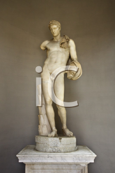 Sculpture of Hermes in the Vatican Museum, Rome, Italy.
