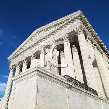 Royalty Free Photo of a Supreme Court Building, Washington, DC, USA