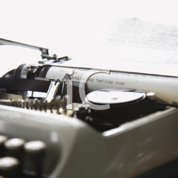 Royalty Free Photo of Paper With Text Inside Typewriter