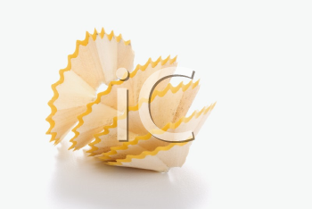 Royalty Free Photo of a Close-up of Spiral Pencil Shavings
