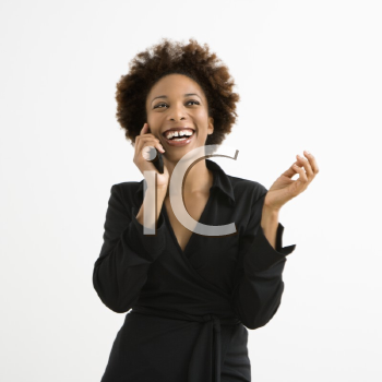 Royalty Free Photo of a Woman Talking on a Cellphone
