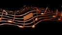 Royalty Free Video of a Moving Staff Line