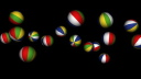 Royalty Free Video of Bouncing Beach Balls