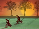 Royalty Free Video of a Bike Riders
