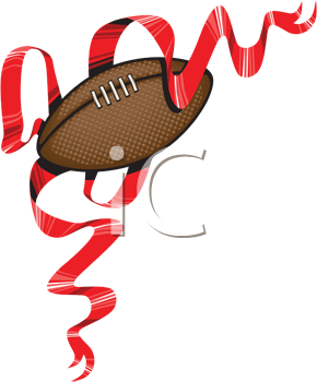 Royalty Free Clipart Image of a Football