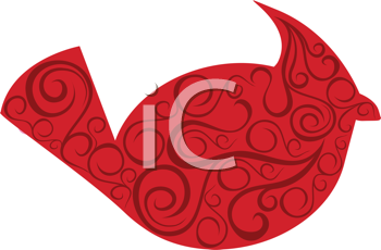 Royalty Free Clipart Image of A Cardinal