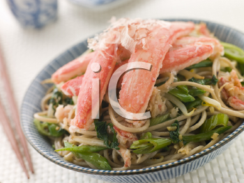Royalty Free Photo of Snow Crab and Soba Noodle Salad