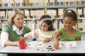 Royalty Free Photo of Students in Art Class