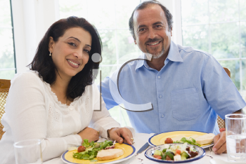 Royalty Free Photo of a Couple at Dinner