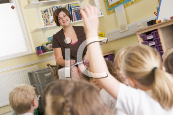 Royalty Free Photo of a Teacher in Class