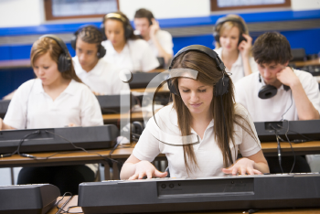 Royalty Free Photo of a Music Keyboard Class