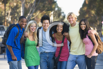 Royalty Free Photo of a Group of Young Students