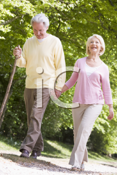 Royalty Free Photo of a Couple Walking