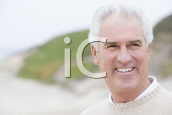 Royalty Free Photo of a Man at the Beach