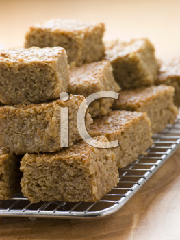 Royalty Free Photo of Pieces of Flapjack