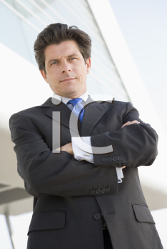 Royalty Free Photo of a Man Outside a Building