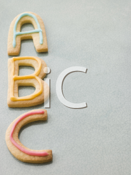 Royalty Free Photo of ABC Shortbread Biscuits