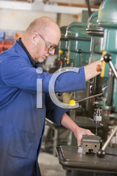 Royalty Free Photo of a Machinist