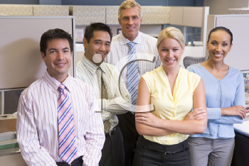 Royalty Free Photo of a Business Team