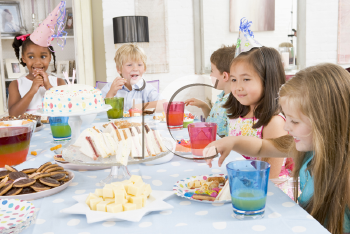 Royalty Free Photo of Children at a Birthday Party