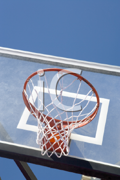 Royalty Free Photo of a Basketball Hoope