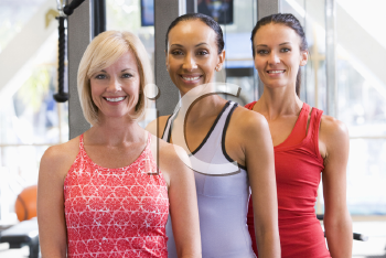 Royalty Free Photo of Girls at a Gym