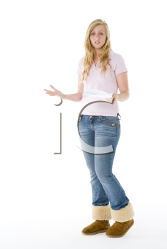 Royalty Free Photo of a Girl With a Paper