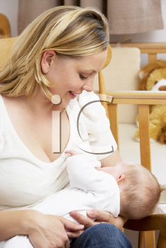 Royalty Free Photo of a Mother Breastfeeding