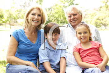 Royalty Free Photo of Grandparents With Grandchildren
