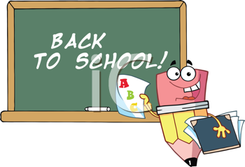 Royalty Free Clipart Image of a Student Pencil With ABC on a Paper