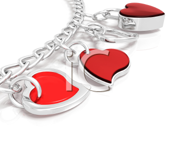 Royalty Free Clipart Image of a Heart Bracelet