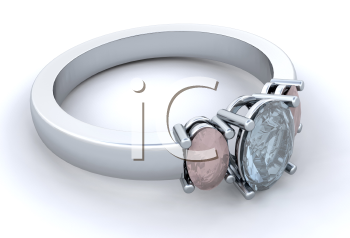 Royalty Free Clipart Image of a Silver Ring