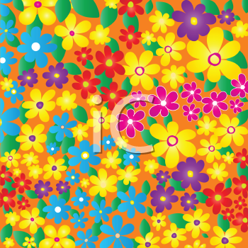 Royalty Free HD Backaground of Abstract Summer Flowers
