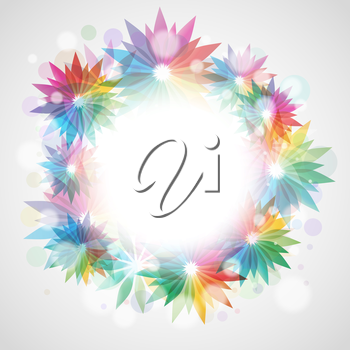 Decorative floral background with space for text