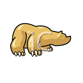 Royalty Free Clipart Image of a Bear With Big Claws