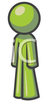 Royalty Free Clipart Image of a Guy Standing Sideways