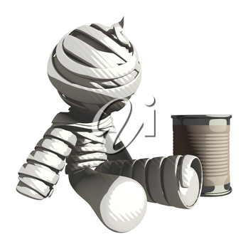Mummy or Personal Injury Concept Begging