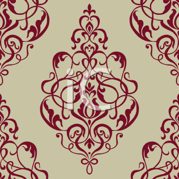 Royalty Free Clipart Image of a Filigree With a Fleur de Lis at the Top