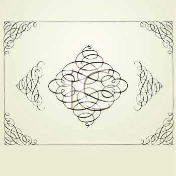 Royalty Free Clipart Image of a Swirl Frame