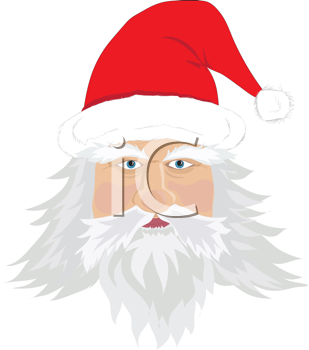 Royalty Free Clipart Image of Santa's Face