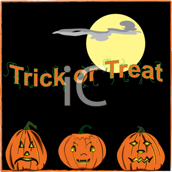Royalty Free Clipart Image of Trick or Treat