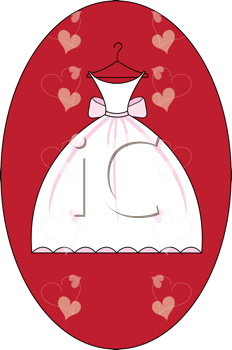 Royalty Free Clipart Image of a Bridal Invitation