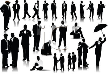Royalty Free Clipart Image of Business People
