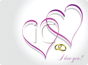 Royalty Free Clipart Image of a I Love You Greeting