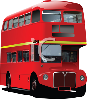 Royalty Free Clipart Image of a London Double Decker Bus