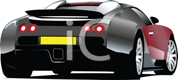 Royalty Free Clipart Image of a Sport Car