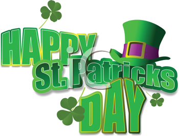 Royalty Free Clipart Image of Happy Saint Patrick's Day