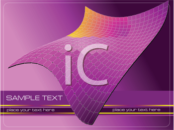 Royalty Free Clipart Image of a Futuristic Background in Purple